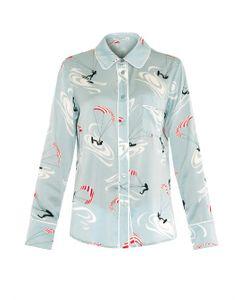 Piamita | Isabella Stretch-Silk Pyjama Shirt