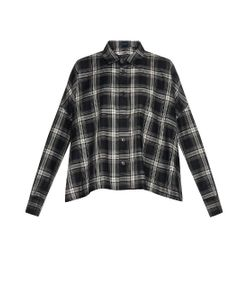 YOHJI YAMAMOTO REGULATION | Step-Hem Checked Cotton-Twill Shirt