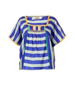 EASTON PEARSON TAKE AWAY | Urchin Striped Silk Top