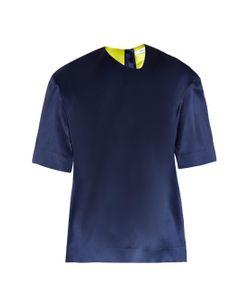 THOMAS TAIT | Box-Fit Silk-Satin T-Shirt