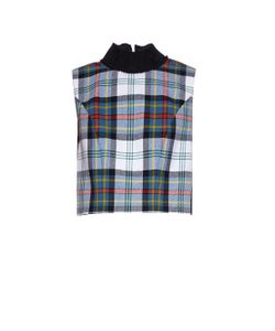 DANIELLE ROMERIL | Evelyn Tartan-Check Wool Top