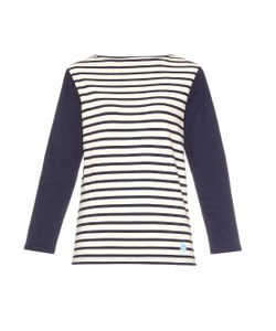 ORCIVAL | Striped Cotton-Jersey Top