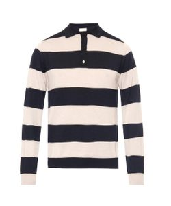 ESK | Striped Cashmere And Cotton-Blend Polo Shirt