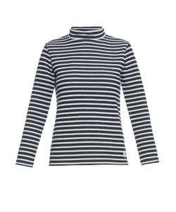ORCIVAL   Funnel-Neck Striped Wool Sweatshirt
