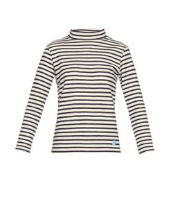 ORCIVAL | Funnel-Neck Striped Wool Sweater
