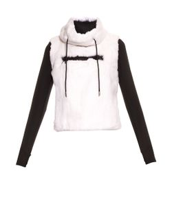 Aurelie Demel | Blade Fur And Wool-Blend Hooded Sweatshirt