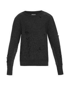 YEEZY SEASON 1   Distressed Military Wool Sweater