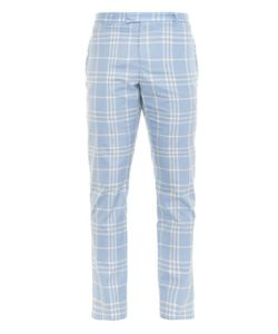ORLEY | Checked Cotton Trousers