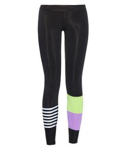 SALT GYPSY | Striped And Colour-Block Performance Leggings
