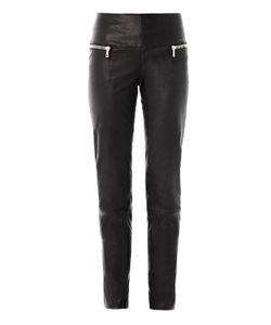 Les Chiffoniers | Double Zip Leather Trousers