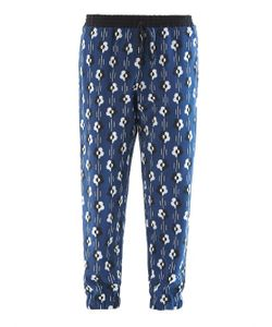 Lulu & Co | Flower-Print Silk Trousers