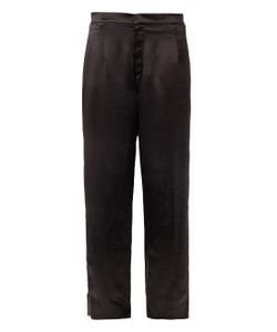 TRAGER DELANEY | Regency Wide-Leg Silk Trousers