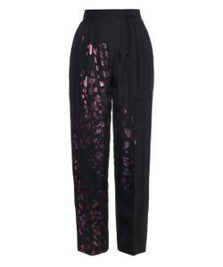 JOE RICHARDS | Selena Metallic Leopard-Print Wool Trousers