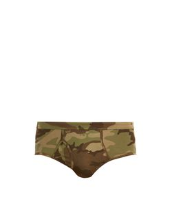 THE WHITE BRIEFS | Camouflage-Print Briefs
