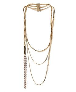 ROSANTICA BY MICHELA PANERO | Aspide Three Layers Brass Chain Necklace