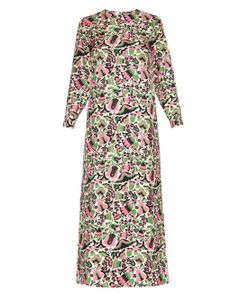 LA DOUBLEJ EDITIONS | Tulipano Long-Sleeved Silk Maxi Dress