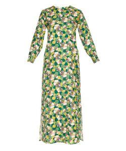 LA DOUBLEJ EDITIONS | Ninfea Long-Sleeved Silk Maxi Dress
