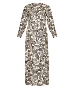 LA DOUBLEJ EDITIONS | Bosco Long-Sleeved Silk Maxi Dress
