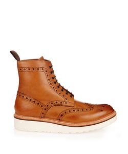Grenson | Fred Leather Brogue Boots