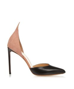 FRANCESCO RUSSO | Leather And Suede Point-Toe Pumps