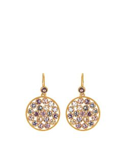 MARIE HELENE DE TAILLAC | Multicoloured-Sapphire Yellow-Gold Earrings