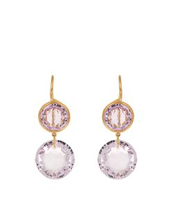 MARIE HELENE DE TAILLAC | Amethyst Yellow-Gold Earrings