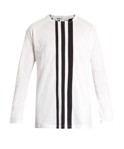 Y-3 | Striped Cotton-Jersey T-Shirt