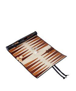 THOMAS LYTE | Smooth-Leather Rolled Backgammon Set