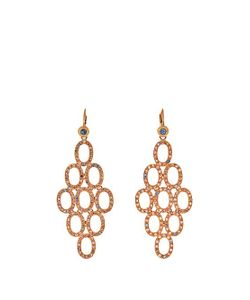 MAURIZIO PINTALDI | Diamond Ruby Sapphire Rose-Gold Earrings