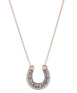 SELIM MOUZANNAR | Diamond Sapphire Pink-Gold Fortune Necklace
