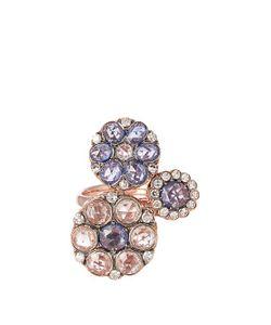 SELIM MOUZANNAR   Diamond Sapphire Pink-Gold Beirut Ring