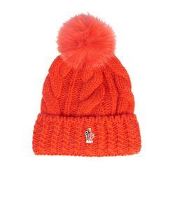 Moncler Grenoble | Mink-Fur Pompom Knitted Beanie Hat