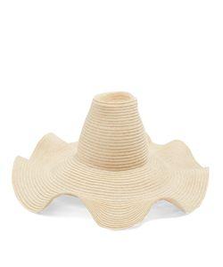 Rosie Assoulin   Waved-Brim Hemp-Straw Hat