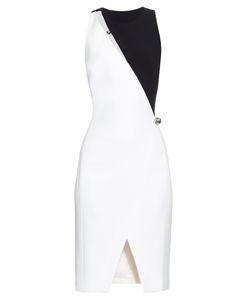 Mugler | Cut-Out Contrast Crepe Dress