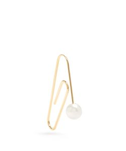 HILLIER BARTLEY | Embellished Plated Paperclip Earring