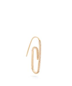 HILLIER BARTLEY | Embellished Plated Paper-Clip Earring