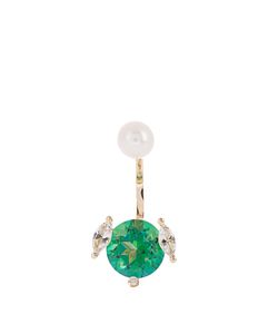Delfina Delettrez | Topaz Diamond Pearl Yellow-Gold Earring