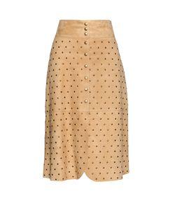 Lanvin | Stud-Embellished Suede Skirt