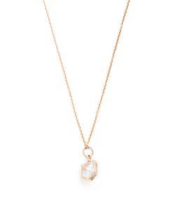 JACQUIE AICHE   Diamond Herkimer-Quartz Rosenecklace