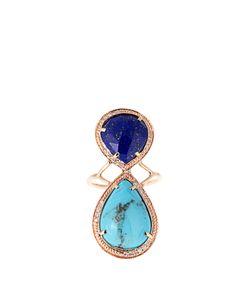 JACQUIE AICHE   Diamond Lapis Turquoise Rosering