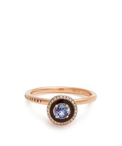 SELIM MOUZANNAR   Diamond Tanzanite Enamel Mina Ring