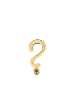 ALISON LOU | Diamond Question Mark Earring