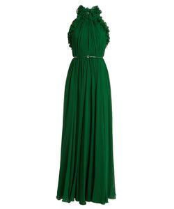 Elie Saab   Gathered Halterneck Silk-Georgette Gown