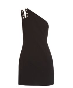 Versus | Button-Detail One-Shoulder Mini Dress