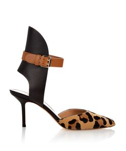 FRANCESCO RUSSO | Point-Toe Leather And Calf-Hair Pumps