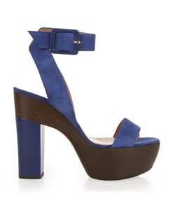 Alexa Wagner | Suede And Leather Platform Sandals