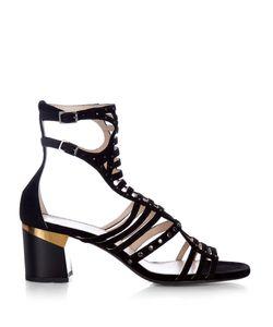 Lanvin | Block-Heel Suede Gladiator Sandals