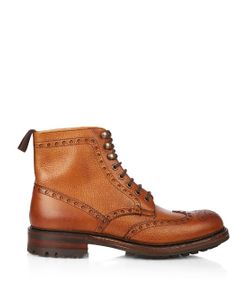 CHEANEY | Tweed C Lace-Up Brogue Boots