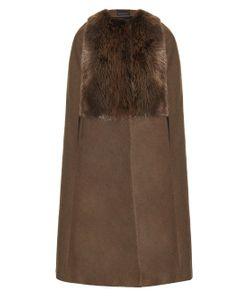 INÈS & MARÉCHAL | Beaver-Fur And Wool-Blend Cape