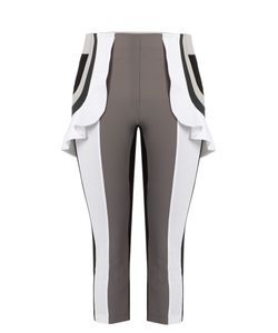 No Ka 'Oi | Kina Capri Ruffle Performance Leggings
